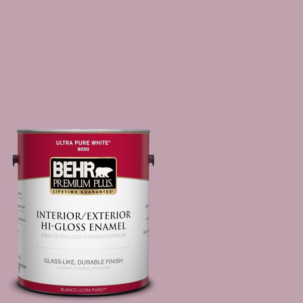 BEHR Premium Plus 1-gal. #S120-4 Decanting Hi-Gloss Enamel Interior/Exterior Paint