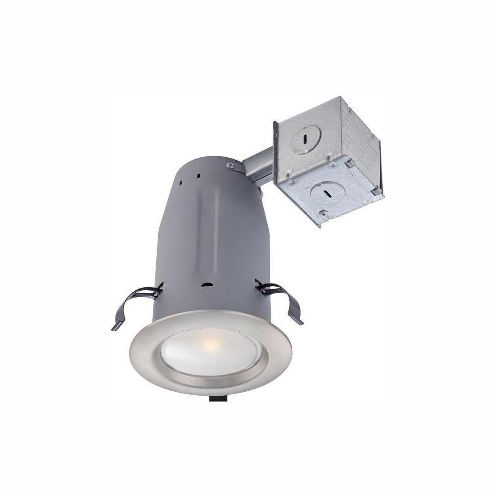 Commercial Electric 3 in. Brushed Nickel LED Recessed Kit