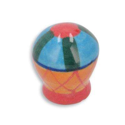 Botanico 1-1/16 in. Blue/Green Cabinet Knob
