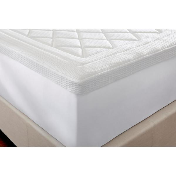Home Decorators Collection 3 In Quilted Gel Memory Foam Queen Mattress Topper 65608 The Home Depot