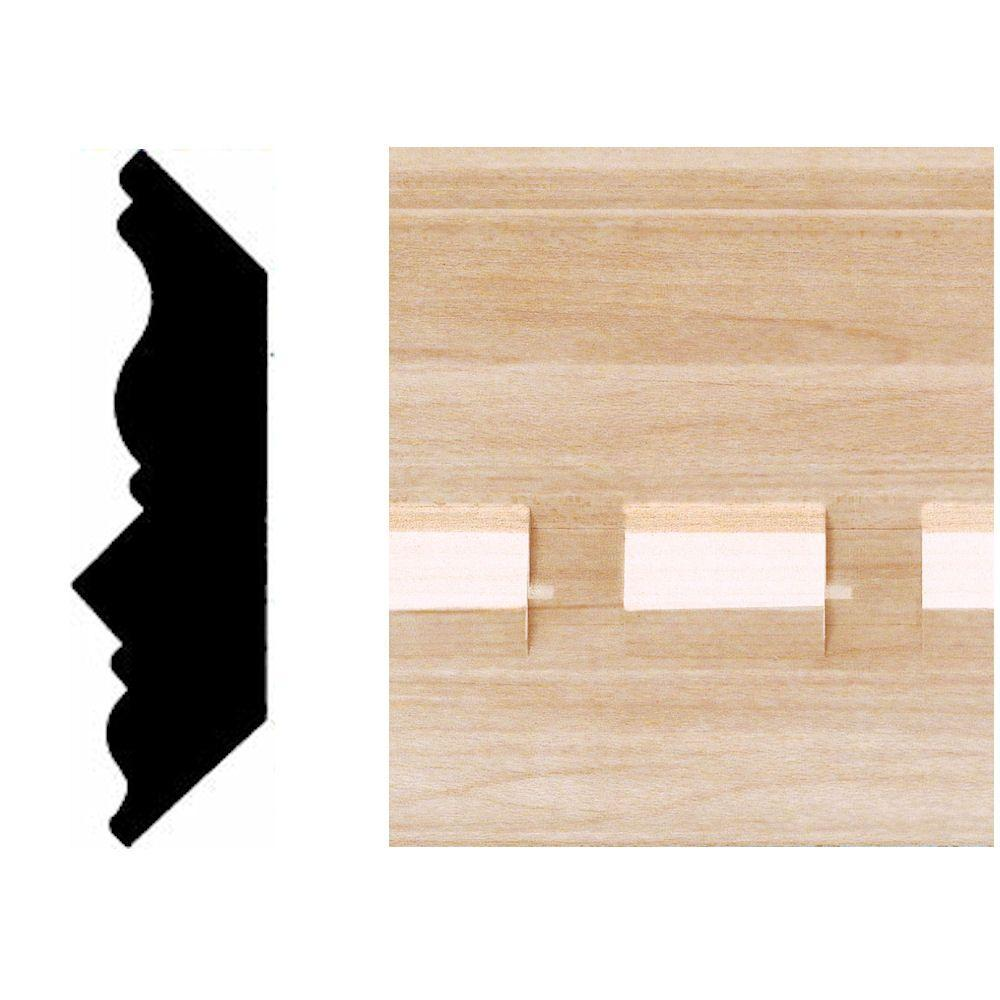 House of Fara 3/4 in. x 3-3/4 in. x 8 ft. Maple Dentil Crown Moulding-DISCONTINUED