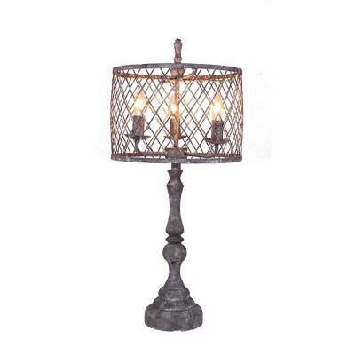 28 in. Light Gray Table Lamp