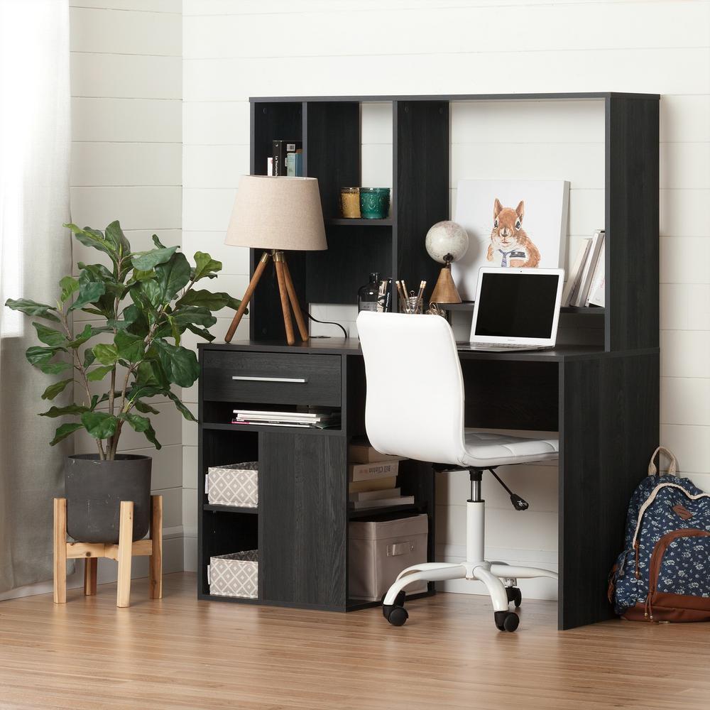 Annexe Desk in Gray Oak