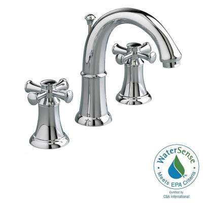 Portsmouth 8 in. Widespread 2-Handle Mid Arc Bathroom Faucet with Speed Connect Drain in Polished Chrome