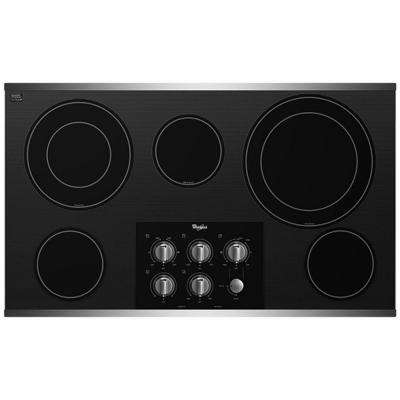 Gold 36 in. Radiant Electric Cooktop in Stainless Steel with 5 Elements including Dual Radiant Elements