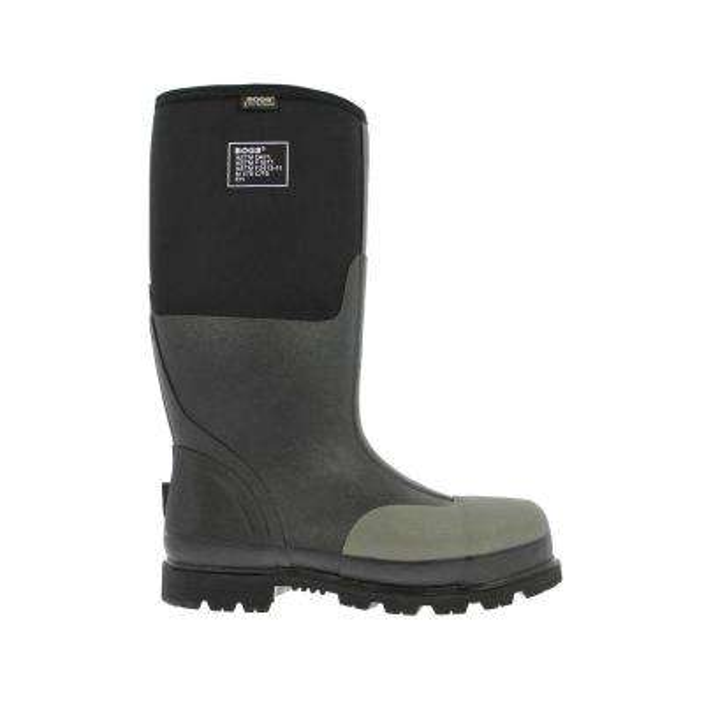 Forge Steel Toe Men 16 in. Size 10 Black Waterproof Rubber with Neoprene Boot