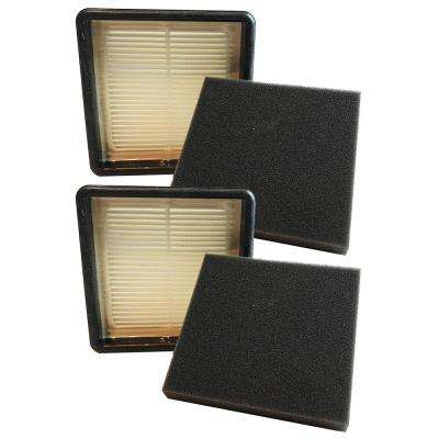 F51 HEPA Style and Foam Filter Kit Replacement for Dirt Devil Part 304008001, 304008002 (2-Pack)