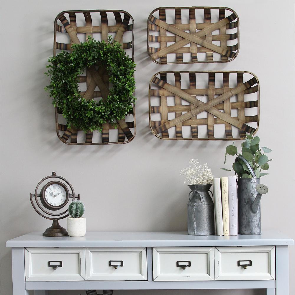 Stratton Home Decor Tobacco Baskets (Set of 3)