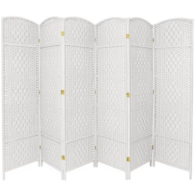 7 ft. White 6-Panel Room Divider