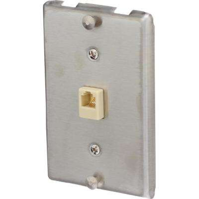 SS Leviton 40226-S Type 630A Telephone Wall Phone Wallplate Surface Wall Jack