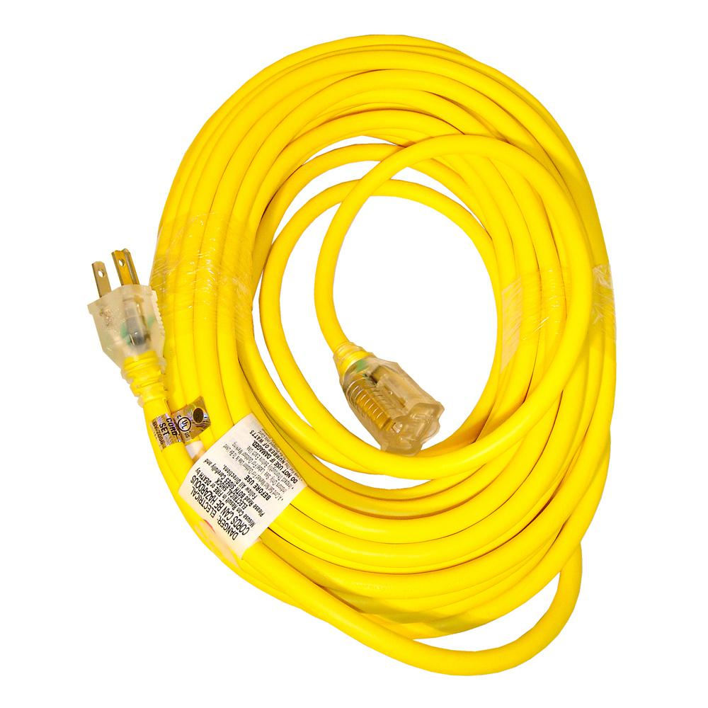 Snow Joe 14-Gauge 50 ft. Low Temp Extension Cord with Lighted End ...