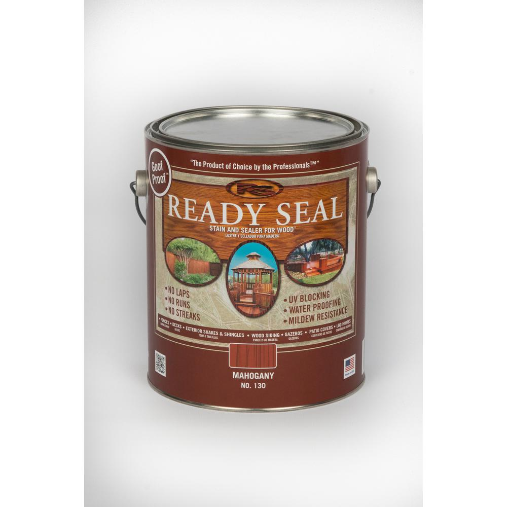 READY SEAL 1 gal. Mahogany (Brown) Exterior Wood Stain an...