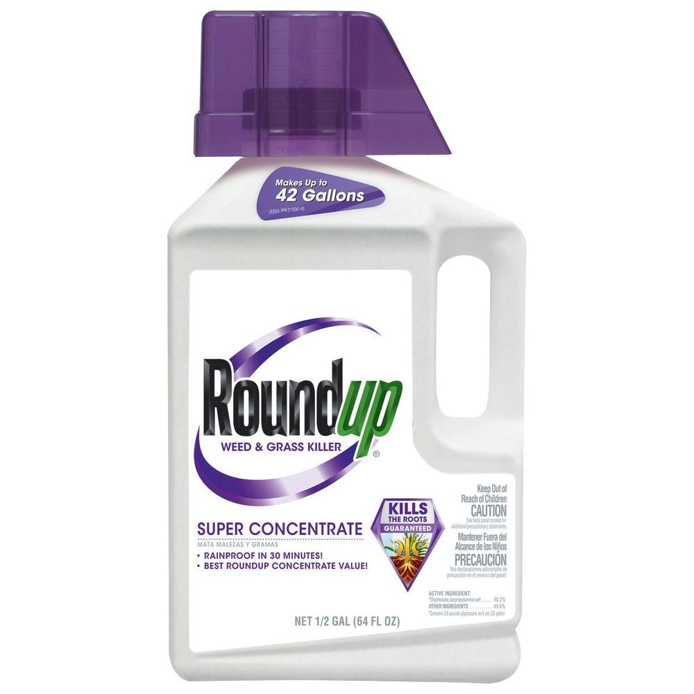 Roundup 0.5 Gal. Weed and Grass Killer Super Concentrate