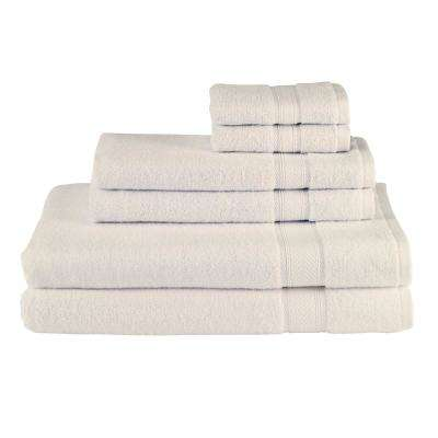 Solid 6-Piece Vanilla Towel Set