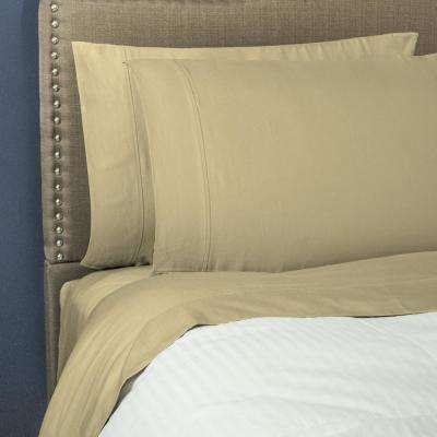 Optimum 1200 Thread Count CVC 6-Piece Semolina King Sheet Set