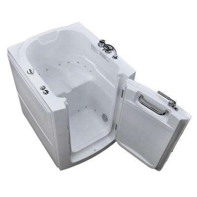 3.2 ft. Right Door Walk-In Non-Whirlpool and Air Bath Tub in White