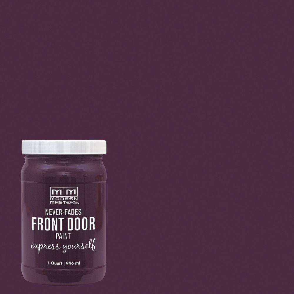 Modern Masters Express Yourself 1 qt. Satin Spontaneous Purple Water-Based Front Door Paint