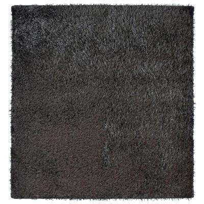 City Sheen Espresso 4 ft. x 4 ft. Square Area Rug