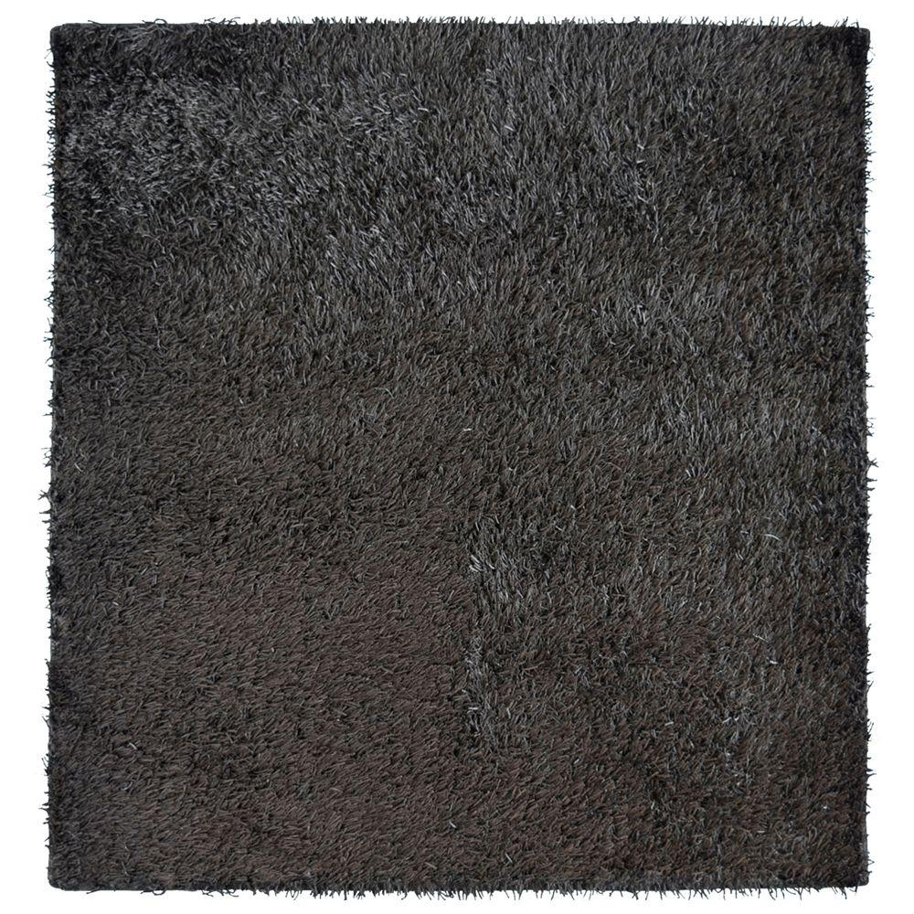 City Sheen Espresso 5 ft. x 5 ft. Square Area Rug