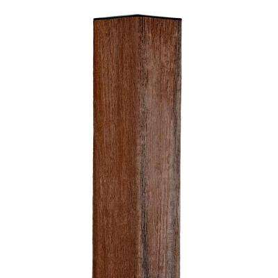 3-1/2 in. x 3-1/2 in. x 64 in. Jatoba Composite Fence Blank Post Includes Wood Insert