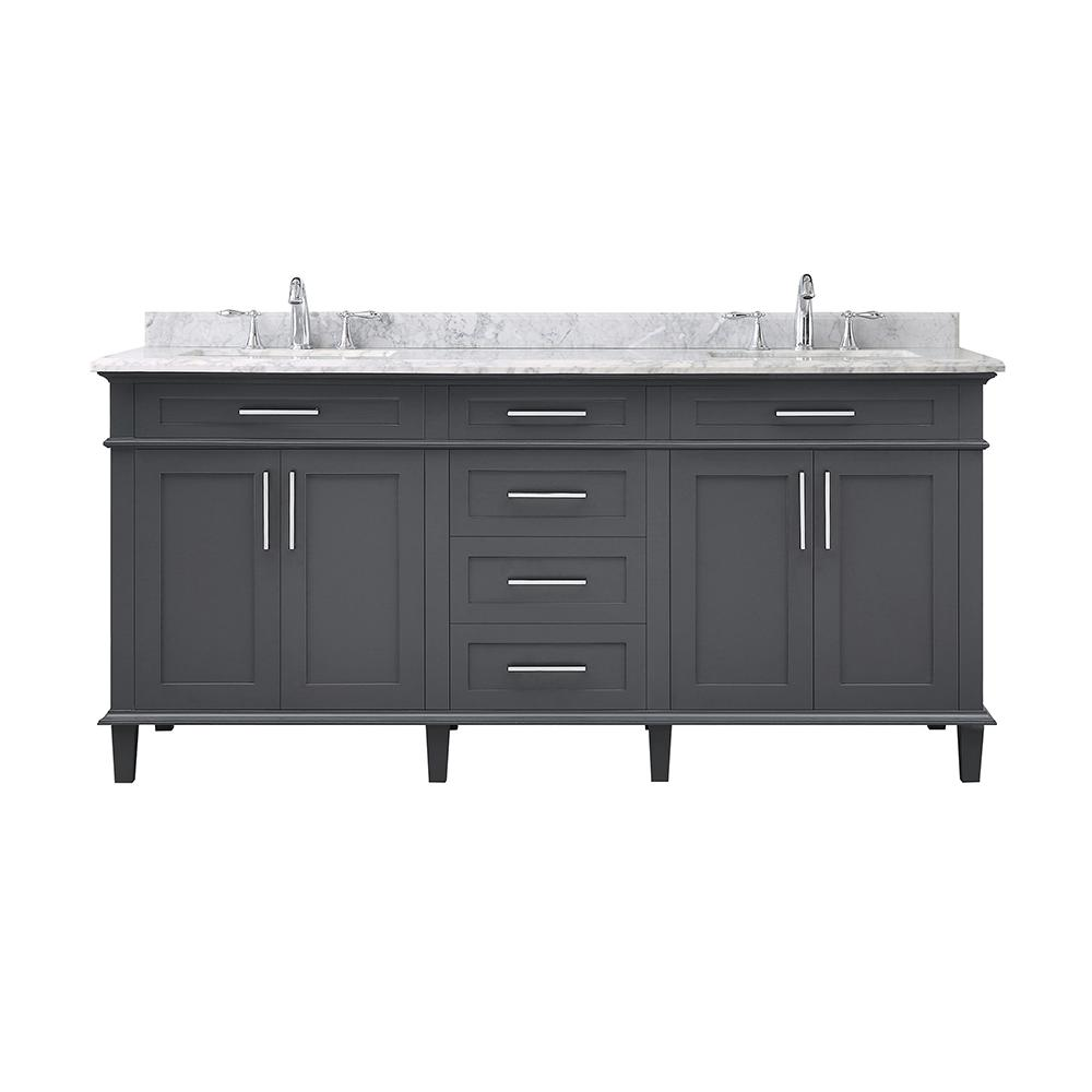 Home Depot Sonoma Vanity: Home Decorators Collection Sonoma 72 In. W X 22 In. D