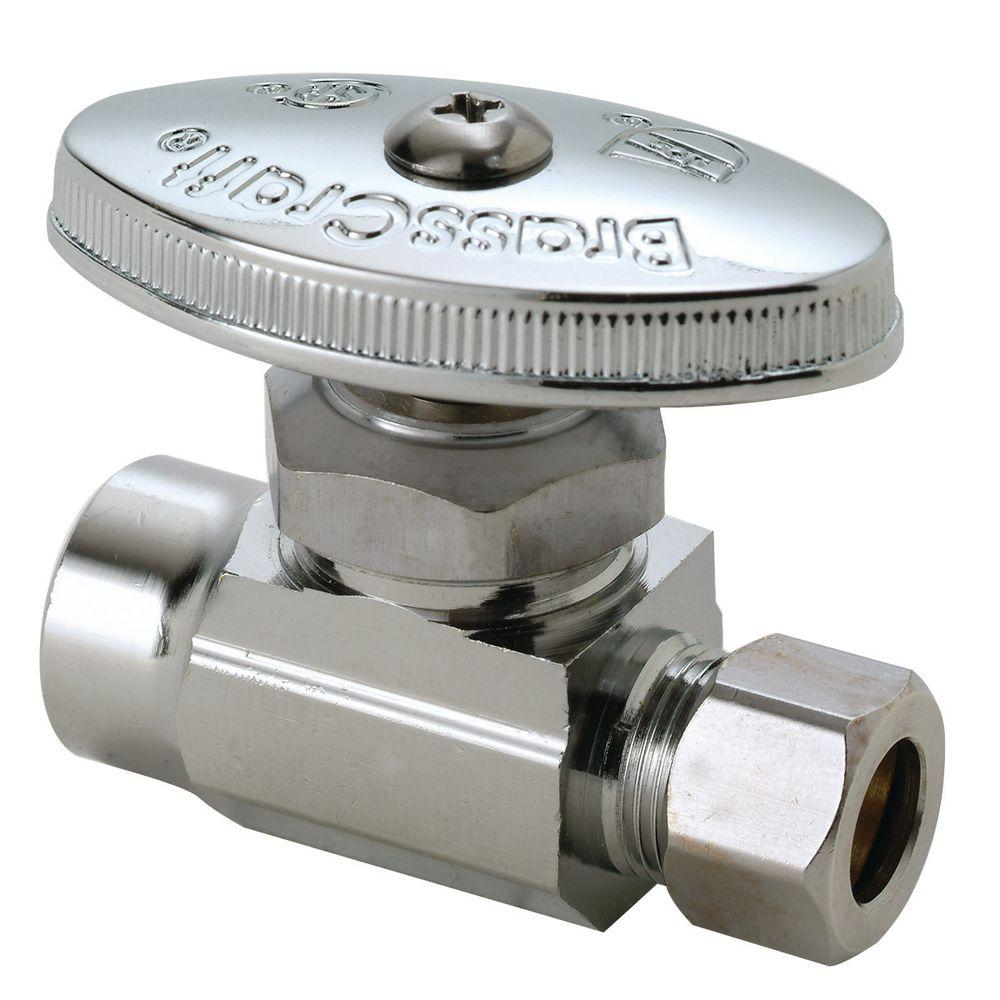 BrassCraft 1/2 in. Nominal Sweat Inlet x 3/8 in. O.D. Compression Outlet Multi-Turn Straight Valve