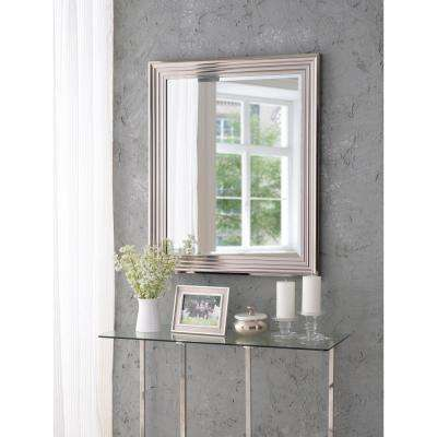 Lyonesse Square Polished Aluminum Decorative Wall Mirror