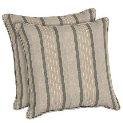 Marvelous Sunbrella Cove Pebble Square Outdoor Throw Pillow (2 Pack)