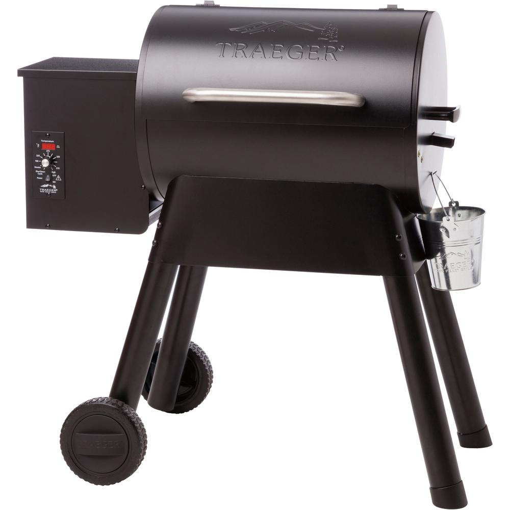 Bronson 20 Wood Fired Pellet Grill in Black