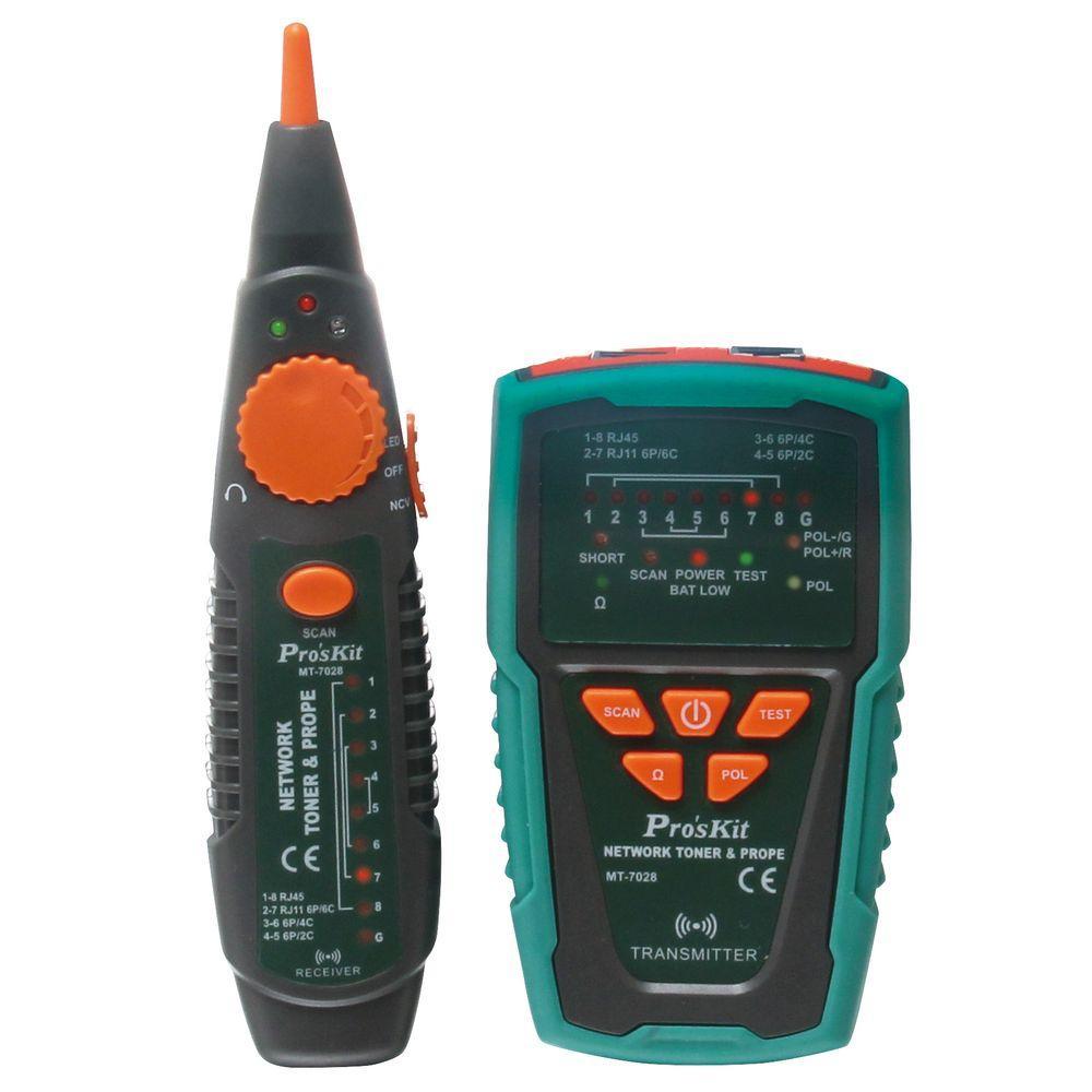 Rj45 Rj11 Network Toner And Probe Kit Mt 7028 The Home Depot
