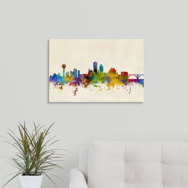 GreatBigCanvas 24 in. x 16 in. ''Knoxville Tennessee Skyline'' by Michael