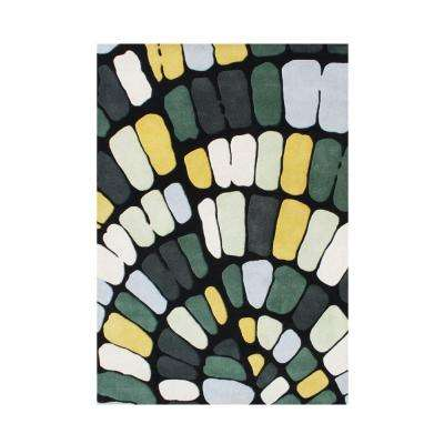 Forest Green 5 Ft X 8 Handmade Area Rug