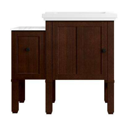 Chambly 36 in. W Vanity in Woodland with Ceramic Vanity Top in White with White Basin