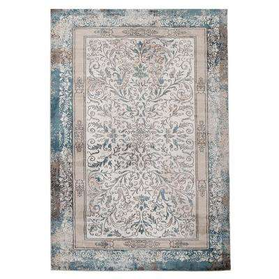 Teal Distressed 5 ft. x 7 ft. Indoor Area Rug