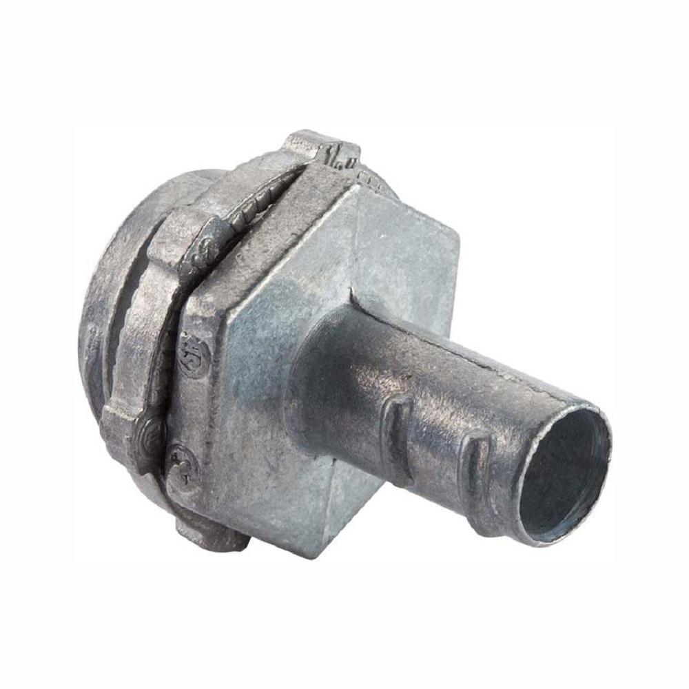 Halex 3/8 in  Flexible Metal Conduit (FMC) Screw-In Connector (50-Pack)
