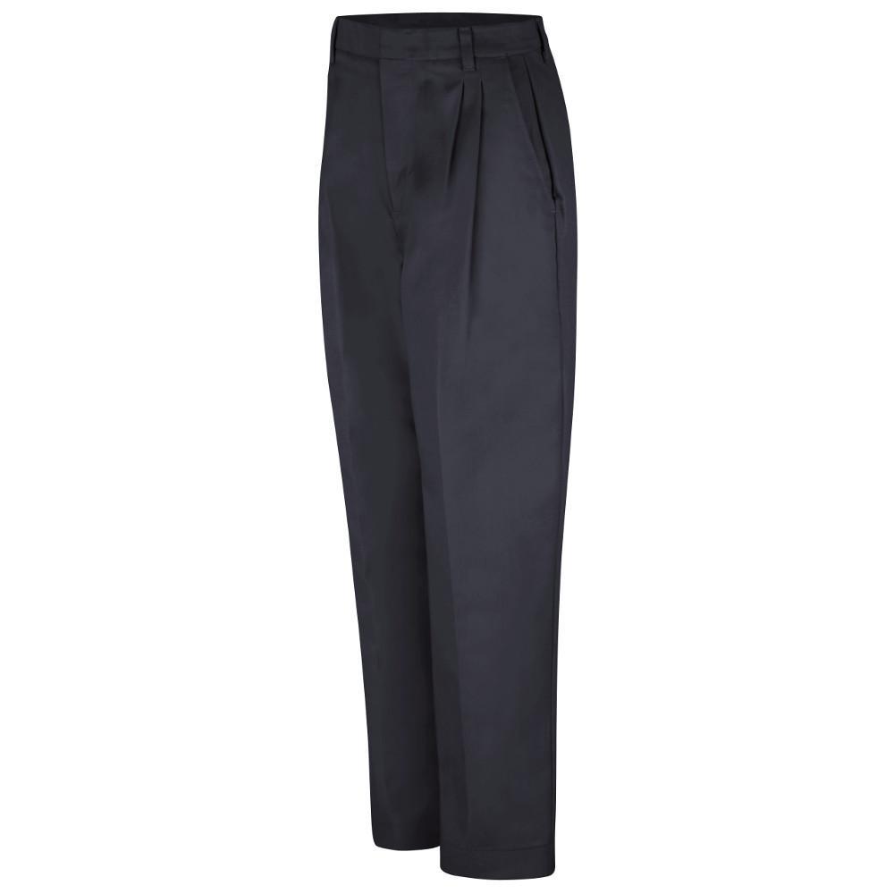 85471d9959a48 Red Kap Women s Size 22 in. x 28 in. Black Pleated Twill Slacks ...