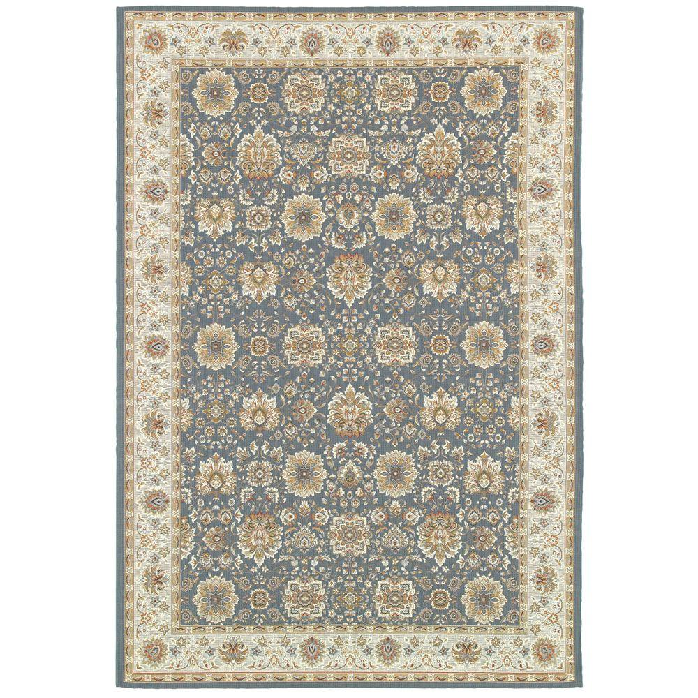 Home decorators collection basile blue 5 ft 3 in x 7 ft for Home decorators rugs blue