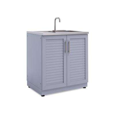 Coastal Gray 32 in. Sink 32 in. W x 36.5 in. H x 24 in. D Outdoor Kitchen Cabinet