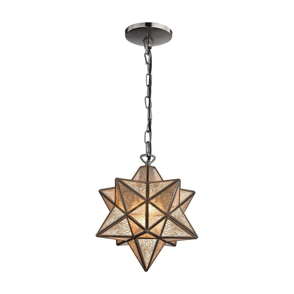 Moravian Star 1 Light Bronze Pendant