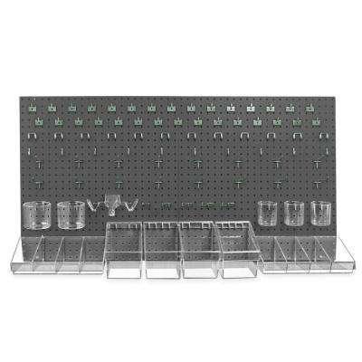 24 in. H x 48 in. W High Density Fiberboard Pegboard Kit (125 pieces)