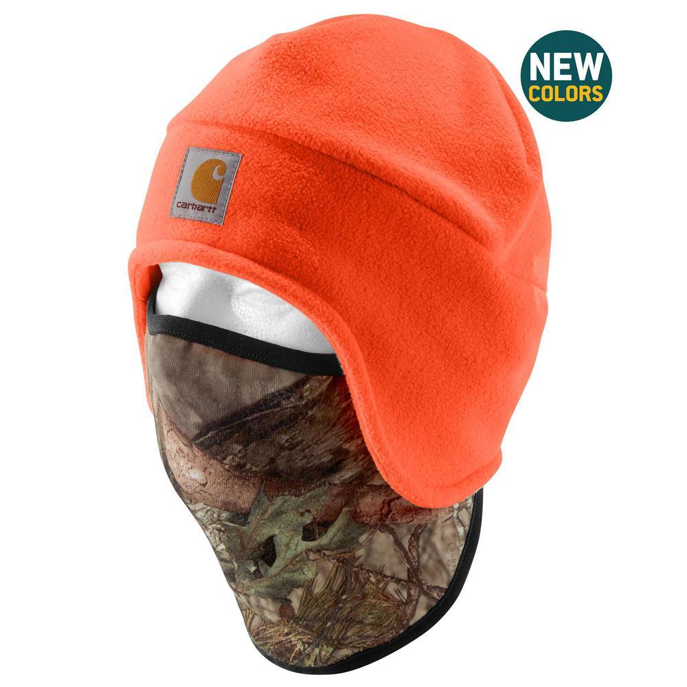 88e51da2d98 Carhartt Men s OFA Hunter Orange Break-up Country Polyester Fleece 2 in 1  Headwear