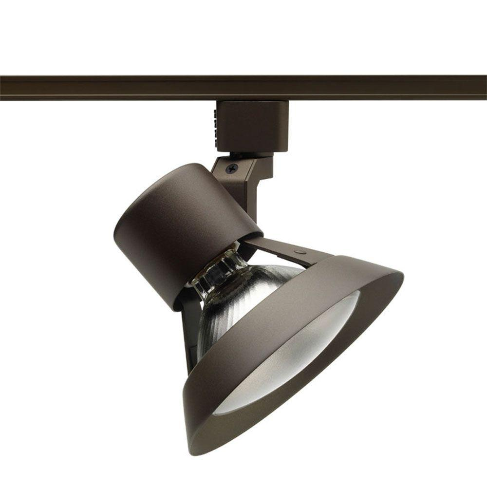 Juno Trac-Lites Bronze Flared-Gimbal Light