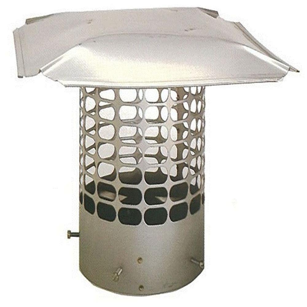 7.25 in. Round Adjustable Stainless Steel Chimney Cap