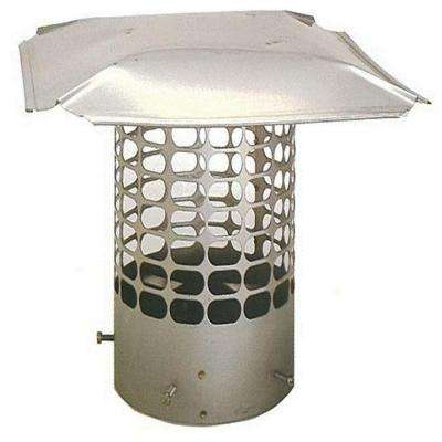 10.75 in. Round Adjustable Stainless Steel Chimney Cap