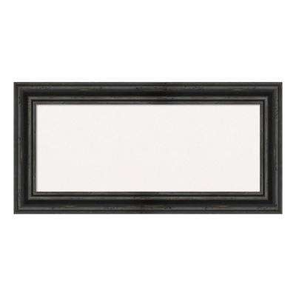Rustic Pine Black Framed White Cork Memo Board