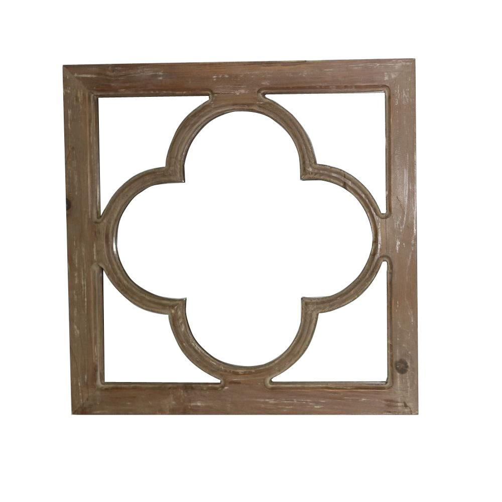 18 in. x 18 in. Antique Window Pane Framed Mirror-14B0018 - The Home ...