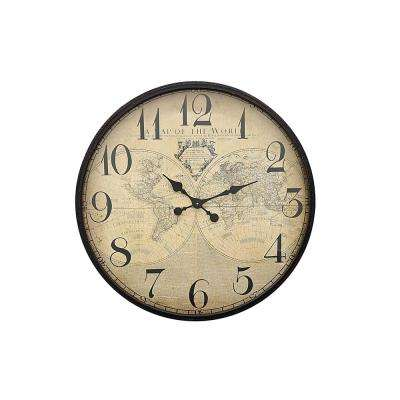 Brown Metal Wall Clock