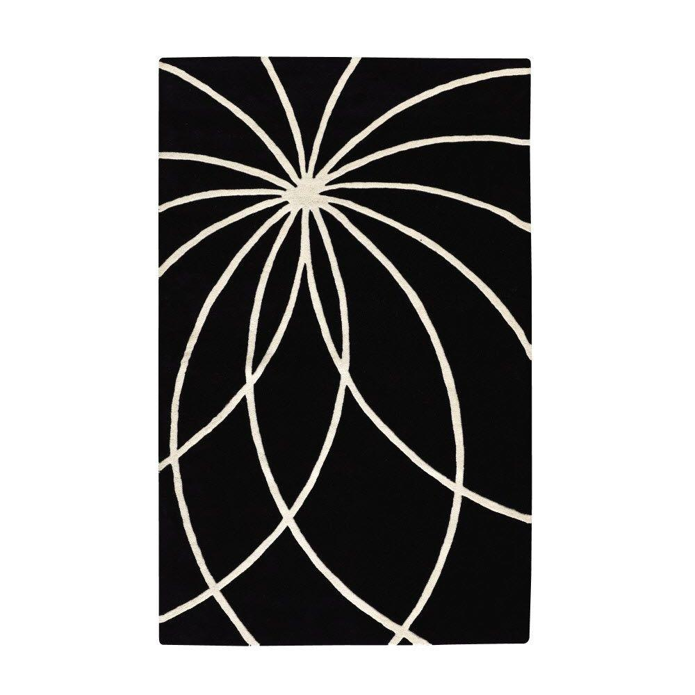 Home Decorators Collection Glimmer Black 2 ft. x 3 ft. Area Rug