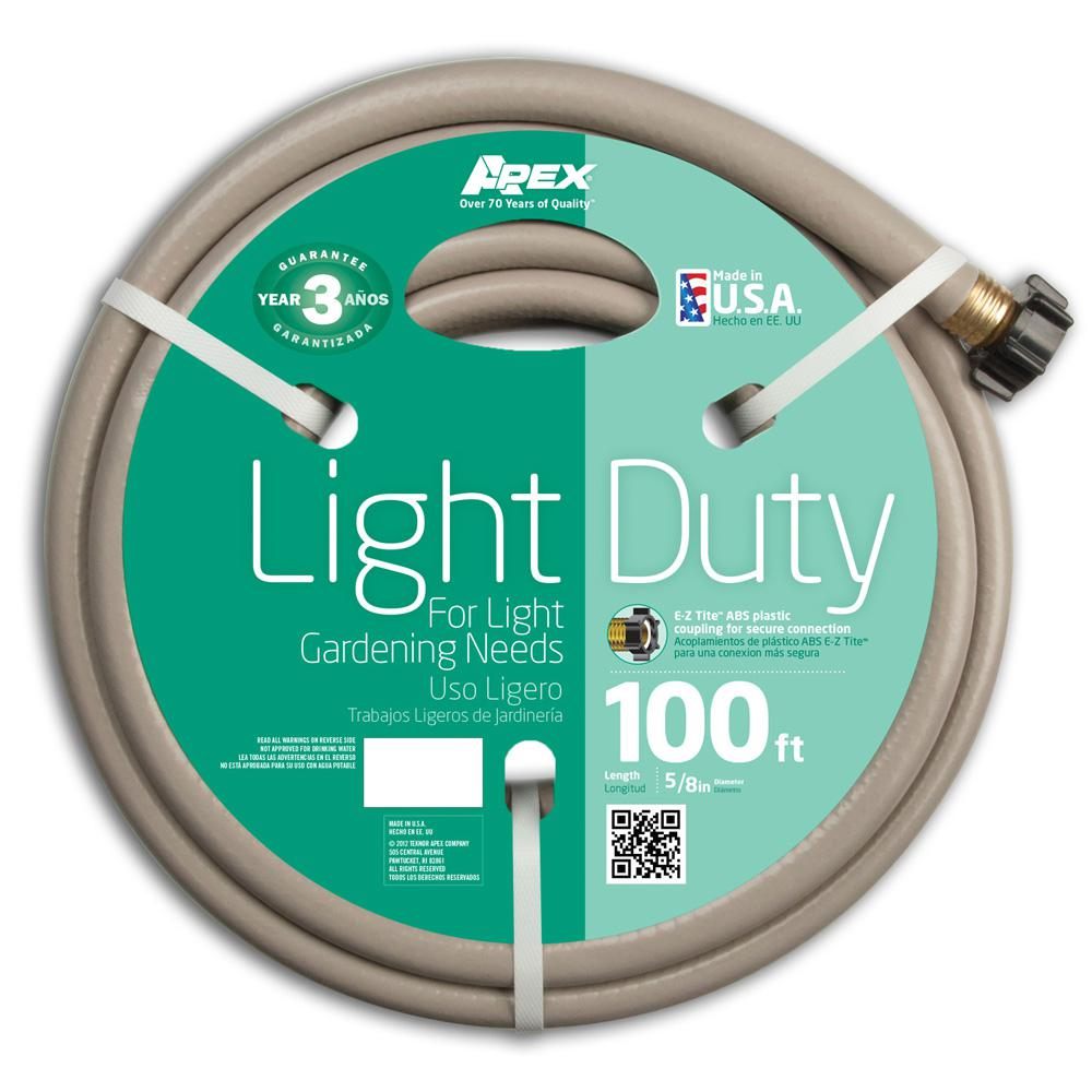 Apex 5 8 In Dia X 100 Ft Light Duty Water Hose 8400 100 The