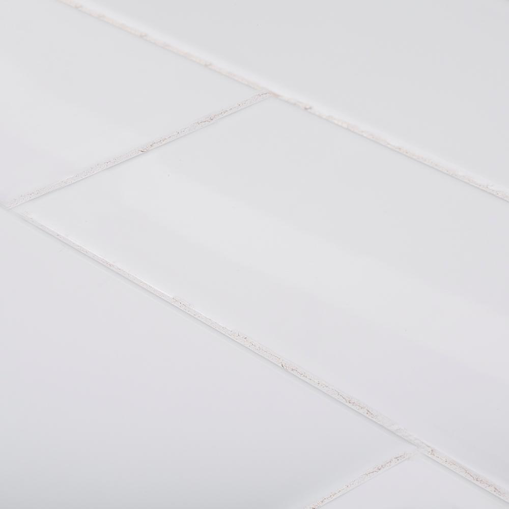 Jeffrey Court Fresh White 4 in. x 12 in. Glossy Ceramic Wall Tile (10.33 sq. ft. / case)